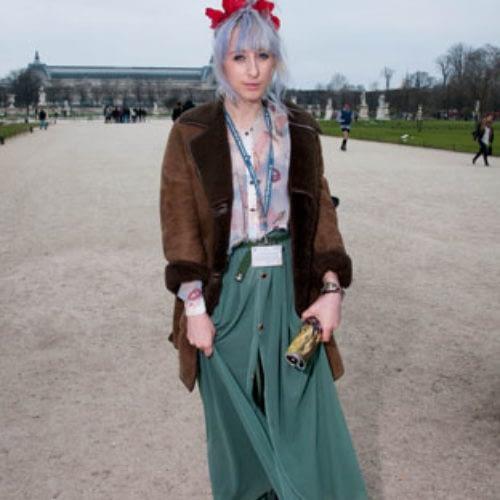 Street Style, Paris Fashion Week,  Jardin des Tuileries, 03/03/2012.