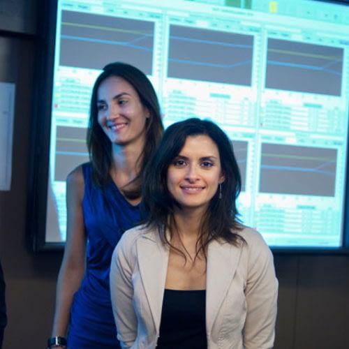 Ingegneri nucleari dell'Enel nella sede di EDF a Montrouge (Parigi). Da sinistra a destra: Teresa, Valentina, Daniela.